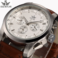 Automatic Mechanical Watch Men 2017 SEWOR Luxury Brand Functional Business Watches Men's White Clock Casual Wristwatch Relogio