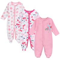3pieces Lot 0 12M Infant Rompers Newborn Baby Long Sleeve Clothing Kids Boys Girls Jumpsuits Clothes