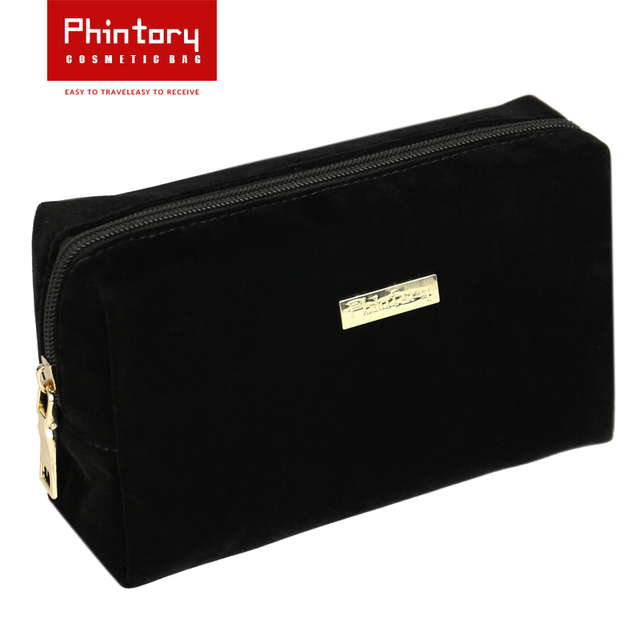 2d1985965d Phintory Large Black Cosmetic Pouch Clutch Travel Case Organizer Storage Bag  for Womens Accessories Toiletry Beauty shincare