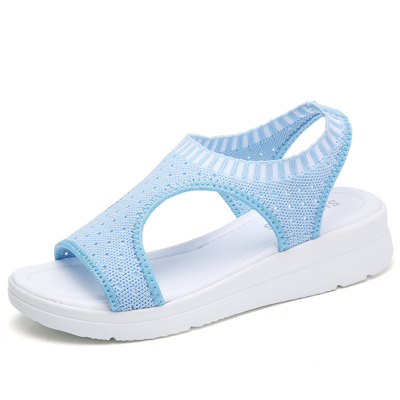 2018 summer new student fashion preparation female sandals thick bottom set foot shoes fashion running wild slippers 59