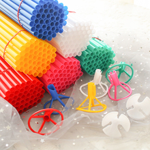 40 Cm Super-long Aluminum Film Holder Cup Latex Balloon Sticks White PVC Rods for Balloons Holder Sticks with Cup Party Decorati cheap SMILY CLUB Wedding Engagement Christening Baptism St Patrick s Day Grand Event Retirement Gender Reveal Birthday Party