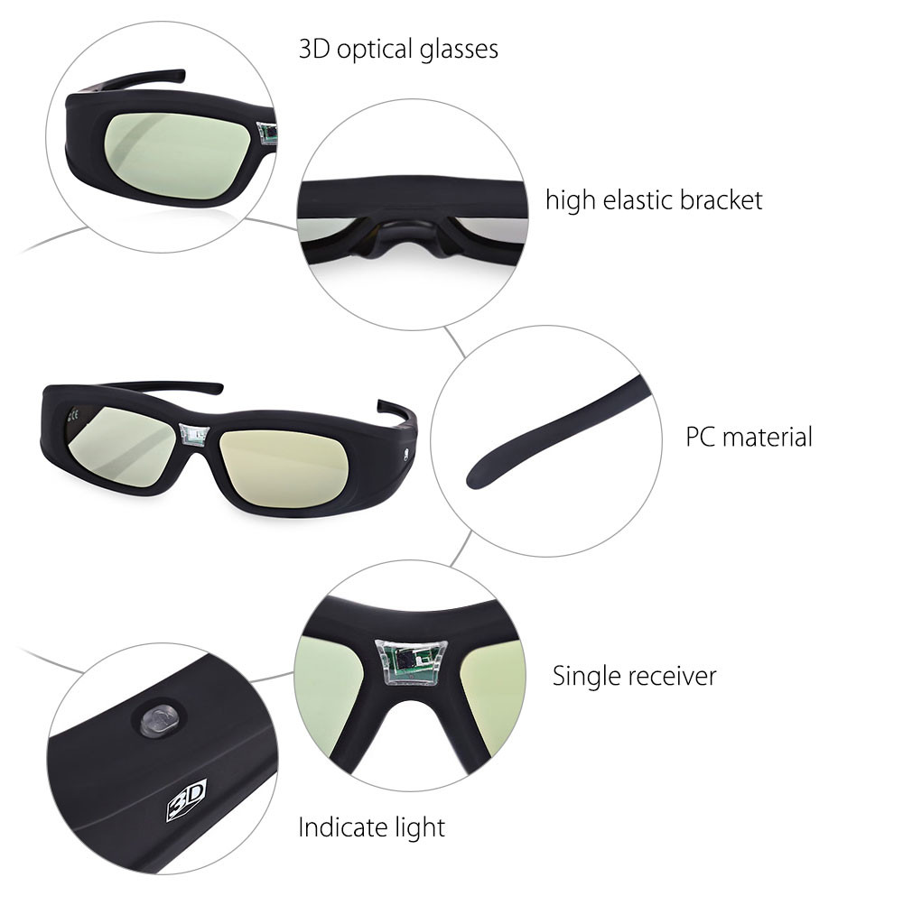 1cfb525231 2016 New 3D Full HD Glasses Wear Comfortable Gonbes N05IR Infrared ...