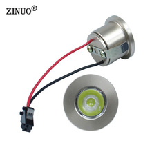 1PC 1W 3W Mini Led Cabinet Lamps Recessed downlight AC85-265V Spot light lamp include led driver For Kitchen Wardrobe