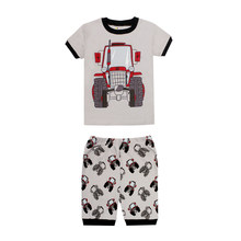 boys truck pajamas kids cars airplane pijamas children's excavator sleepwear baby clothing girls unicorn rabbit ballet pyjamas(China)