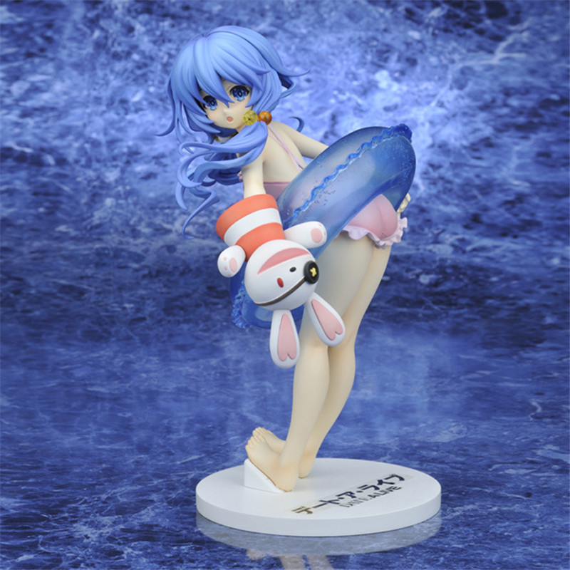 Anime Date A Live Sexy Girl Yoshino Swim Wear Juguetes Sex Toys PVC Action Figure Brinquedos Collection Model Toy For Men 18CM 2017 anime transformation 4 cars robots toys pvc action figures toys brinquedos model boy toy christmas gifts juguetes cm