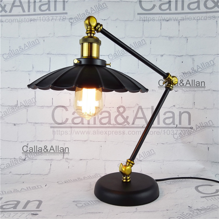 Black iron desk light with bulb switch and plug study lighting E26/E27 bronze table lighting for study bedroom hotel decorationBlack iron desk light with bulb switch and plug study lighting E26/E27 bronze table lighting for study bedroom hotel decoration