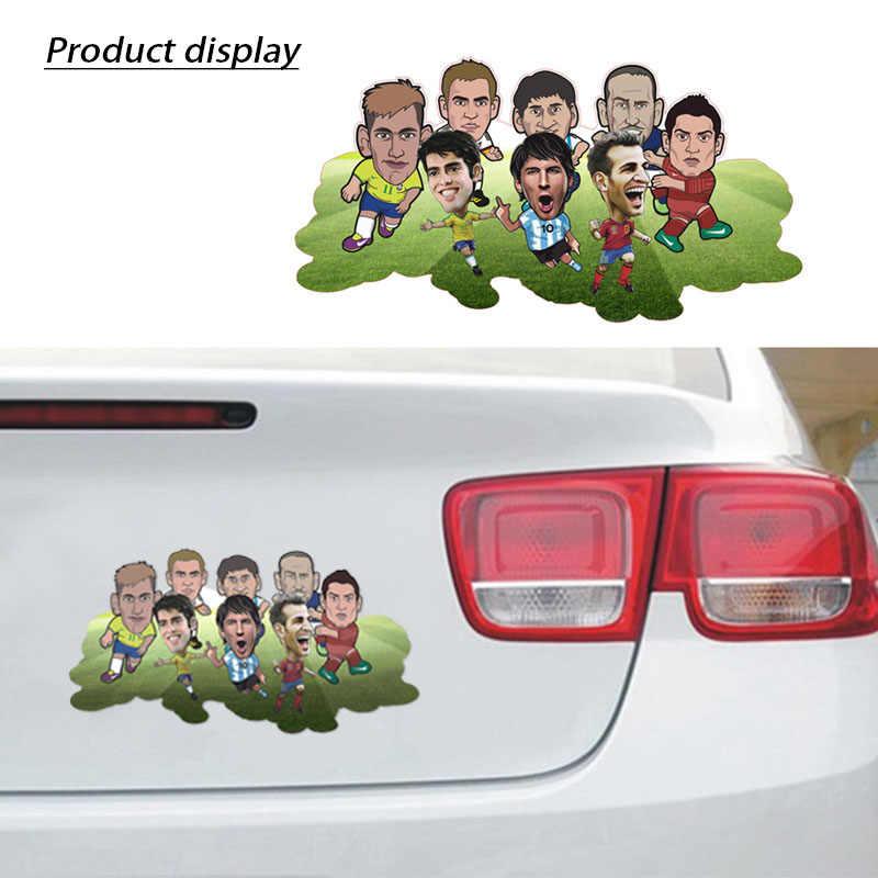 LENTAI de dibujos animados coche faro cuerpo pegatinas de estrellas de fútbol estilo para Ford Focus 2 3 Fiesta Mondeo MK4 Ranger Toyota Corolla COMISIÓN DE DERECHOS HUMANOS
