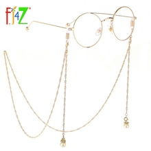 F.J4Z Fashion Gorgeous Simulated Pearl Pendant Charm Glasses Chain For Women Styled Eyewear Lanyard Holder Straps