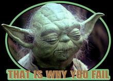 80s Classic Star Wars Empire Strikes Back Yoda That Is Why You Fail custom tee Free shipping  Harajuku Tops Fashion Classic майка борцовка print bar empire strikes back