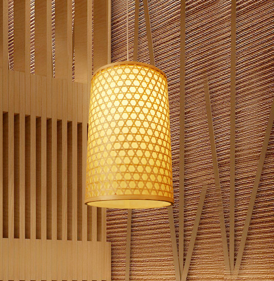 Chinese style hand knitting bamboo art Chandelier Rustic bamboo color E27 LED lantern lamp for porch&parlor&corridor&bar LHDD041 southeast asia style hand knitting bamboo art pendant lights modern rural e27 led lamp for porch