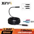 Xinfi 10 mm 1.3MP endoscópio USB 5 M cabo mini câmera de esgoto endoscópio para PC windows USB câmera de tubo cobra inspeção do carro câmera