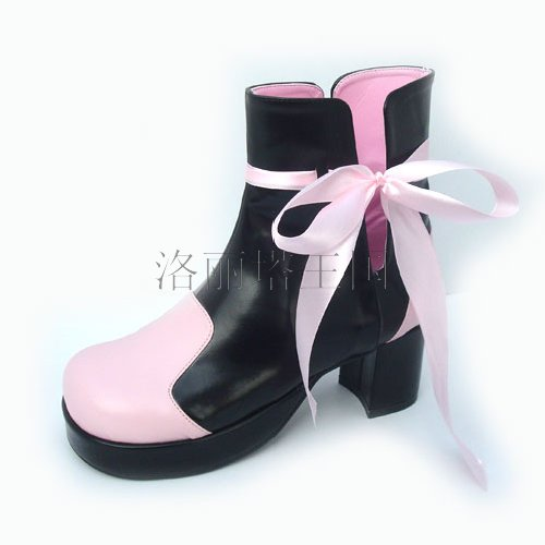 Princess sweet lolita shose Lolilloliyoyo antaina Lolita boots cos shoes ribbon boots single shoes 9866a cosplay