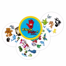 ROMANCARD 2017 new board game flash pair spot it animals for kids children family play gift for friends card games