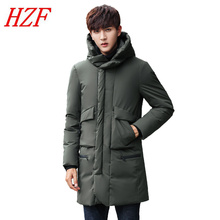 2017 Long Winter Jacket Men Brand Clothing Male Cotton Spring Coat New Top Quality Black Parkas Men Warm Thicken Outwear Padded