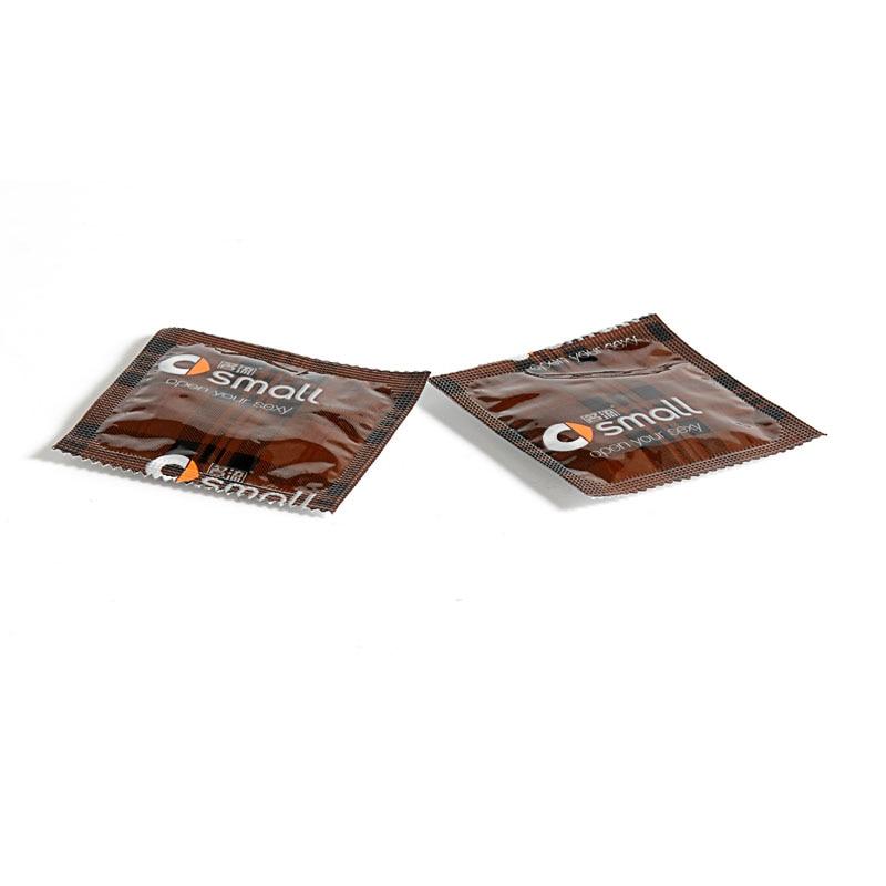 2Pcs Mini Small 45mm Delay Condoms Penis Sleeve Sex Products Tight Condones