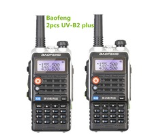 2PCS BaoFeng BF-UVB2 plus transceiver cb radio communicator long-range wireless Portable Walkie Talkie ham baofeng B2