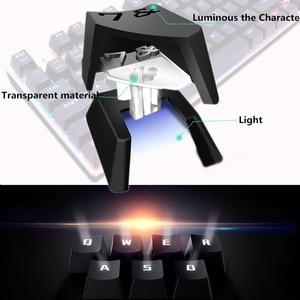 Image 4 - Gaming Mechanische Tastatur Blau Rot Schalter 87key RU/UNS Verdrahtete Tastatur Anti geisterbilder RGB/ Mix Backlit LED USB Für Gamer PC Laptop