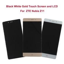 """Oryginalne 5.5 """"dla zte nubia z11 nx531j pełna wyświetlacz lcd ekran dotykowy digitizer montażu telefonu komórkowego lcd do zte nubia z11"""