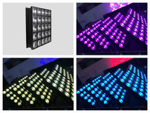 2pcs/lot, LED Matrix Light 25x10w RGB 3in1 Beam stage lighting background 5x5 LED Panel Light 5pcsx5pcs(China)