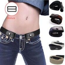 Buckle-Free Elastic Belt Buckle Free No Buckle Stretch Belt Women's Plus Belts for Jeans