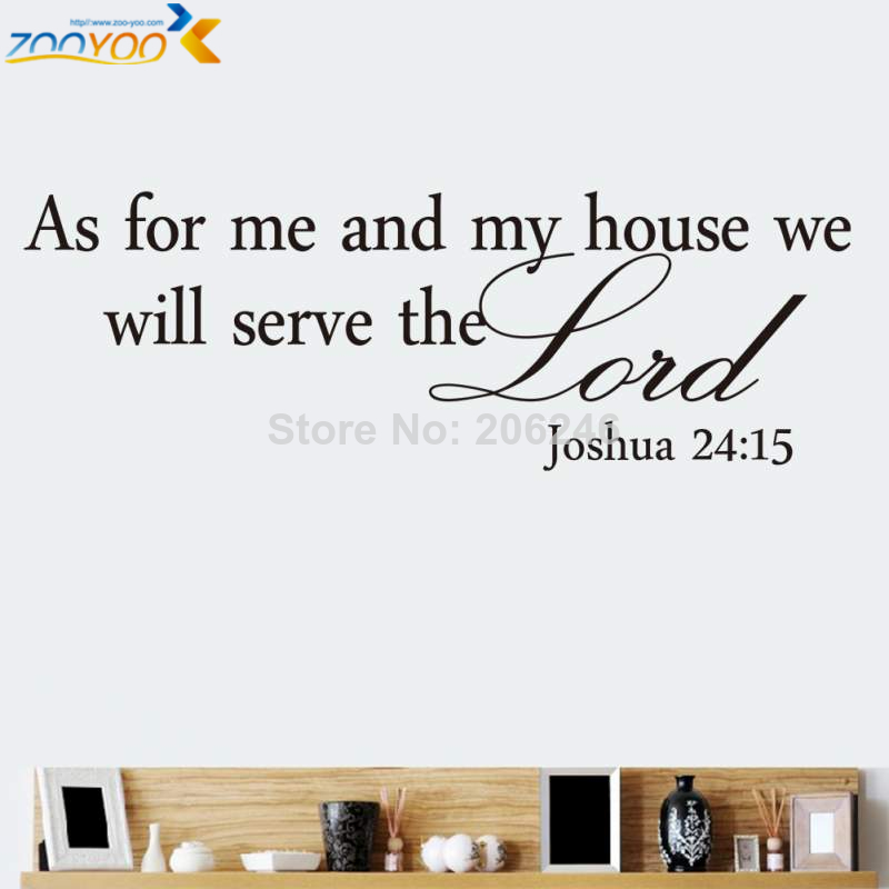 Bible quote wall decals zooyoo8219 home decoration removable creative DIY 3d art vinyl wall stickers