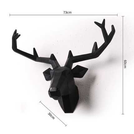 European Style Deer Hanging Pendant Home Decor Furnishing Wood Resin Elk Moose Animal Head Wall Decor Bar Mural Living Room D027 Statues Sculptures Aliexpress