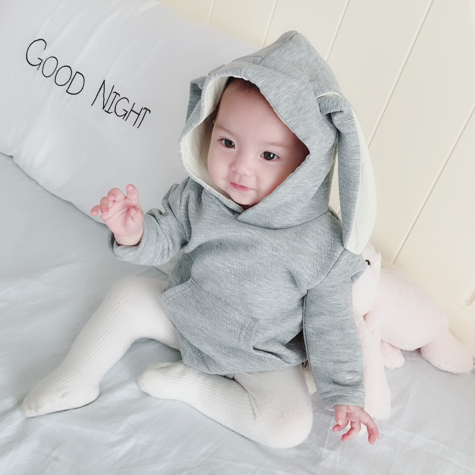 358220481a5d6 US $14.43 24% OFF|Baby Rabbit Stereoscopic Shape Of Children's Conjoined  Clothes Baby Girl Clothes Bodysuit Baby Body For Newborn Babys-in Bodysuits  ...