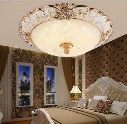 Okrągłe lampy sufitowe salon proste europejski styl światła w sypialni kreatywny balkon światła Led światła mijania akrylowe