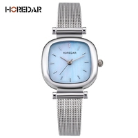 HOREDAR Fashion Mesh Steel Women Watches 2017 New Top Luxury Brand Casual Quartz Wrist Watch Elegant