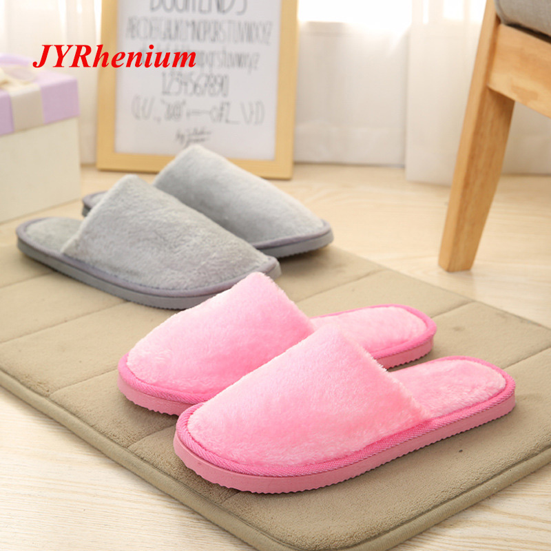 JYRhenium Men Shoes Winter Warm Home Slippers Men Fashion Couple Men Plush Warm Slippers Indoor Soft Couple indoor Slippers Size fghgf shoes men s slippers mak