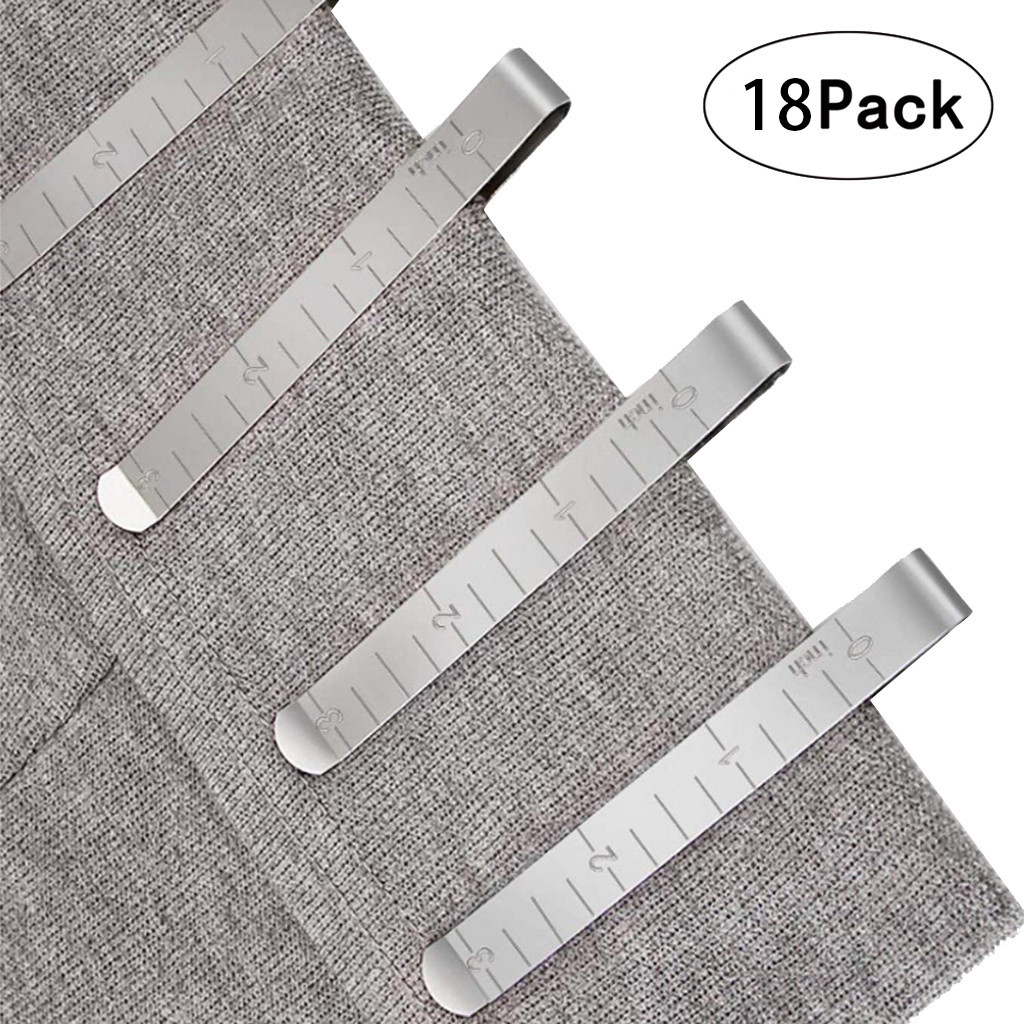 Metal Sewing Crimping Clip Stainless Steel Hemming Clips With Built-in Ruler Cloth Measurement Ruler DIY Sewing Tool#30