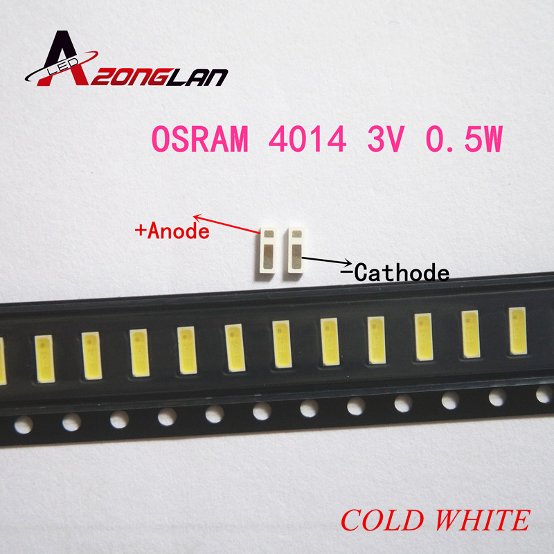 100 Pcs Osram Synios E4014 Led Backlight Midden Power Led 0.5 W 3 V 4014 Koel Wit Lcd Backlight Voor Tv Tv Toepassing Compleet In Specificaties