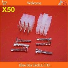 50 компл. 6 контакт. / способ тона Pin 4.2 мм 5557 и 5569 провод терминалы электрический разъем для печатной платы / car / мотоциклов / т . д .