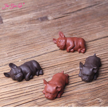 JIA-GUI LUO Tea Pet Puppy Creative Purple Clay Bully dogs Decoration Boutique Lucky Zodiac Accessories N001