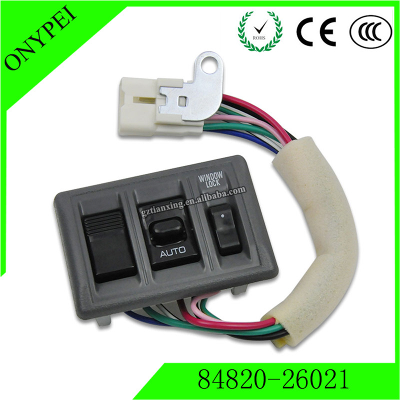84820-26021 Car Electric Power Window Control Switch Button For Toyota