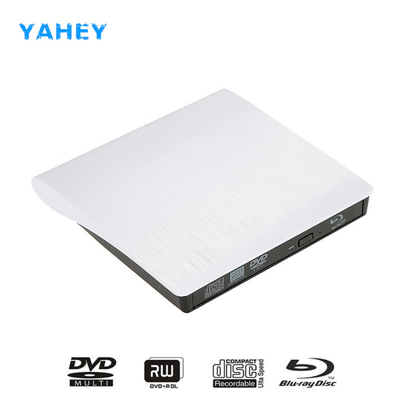 Bluray Player External Optical Drive USB 3.0 Blu-ray BD-ROM CD/DVD RW Burner Writer Recorder Portable for Apple macbook Laptop usb 2 0 bluray external cd dvd rom bd rom optical drive combo blu ray player burner writer recorder for laptop comput drive bag
