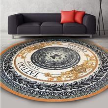 European round Carpet Non-slip Floor Mat Indoor Entrance Doormat chair mat area Rug Yoga for Living Room Bedroom