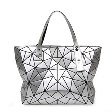 Top-handle Bags Geometric Plaid Luxury Handbags Women Designer Fashion Tote Shoulder sac a main o