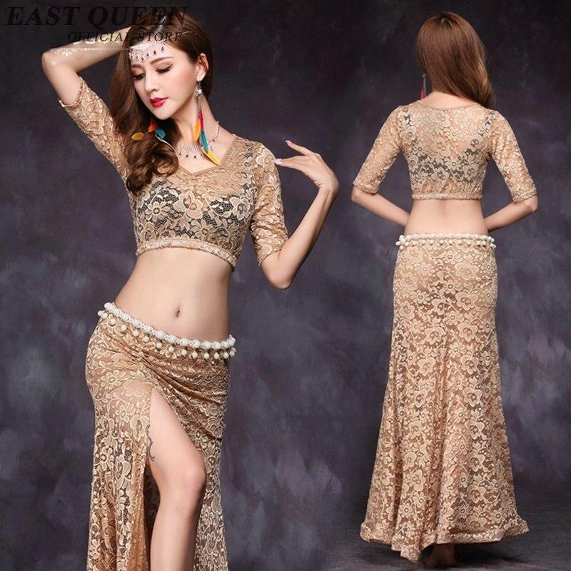 Sari indien vêtements de danse du ventre vêtements bollywood costumes de danse oriental de danse costumes deux pièces ensemble AA2557 YQ