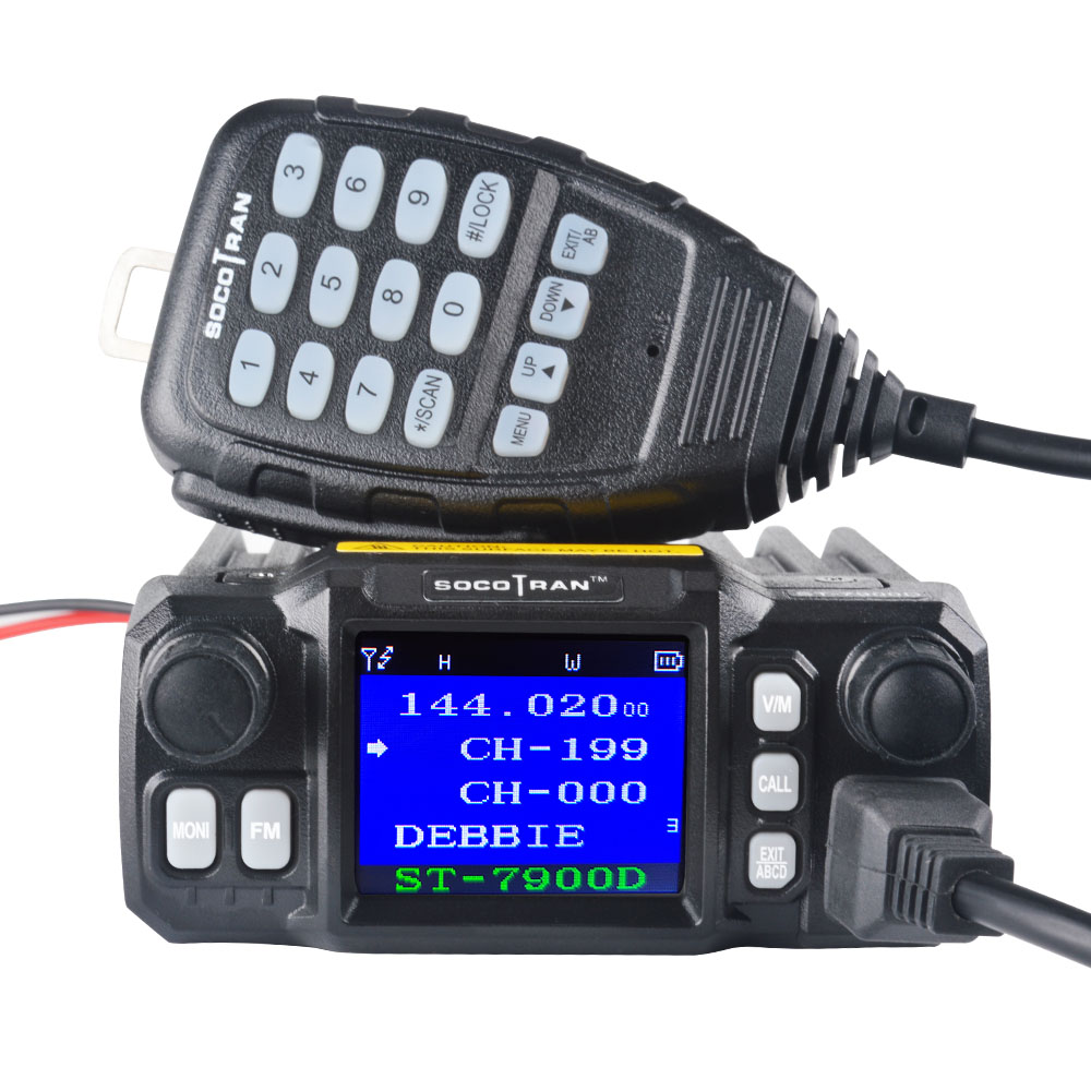 In Moscow Car Mobile Walkie Talkie  Amateur Ham Radio Vehicle Transceiver 136/220/350/440MHZ 4 Bands UHF VHF Mobile car radios-in Walkie Talkie from Cellphones & Telecommunications