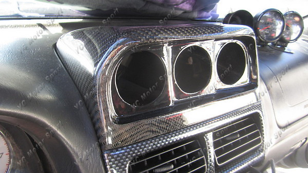 Car Accessories Carbon Fiber Dash Gauge Pod Fit For 1996 2001 Subaru Impreza WRX STI GC8 GF8 Dash Gauge Pod