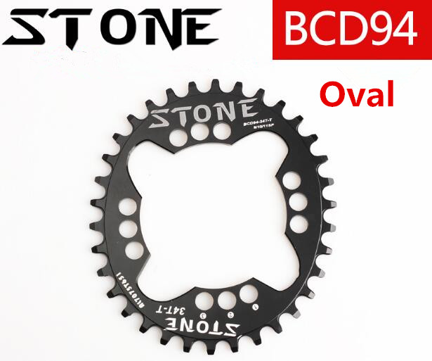 Stone 94BCD Round/Oval 32T/34T/36T/38T/40T/42T/44T/46T/48T Cycling Chainring MTB Bike Chainwheel Crown BCD 94 for NX GX X1 FSA ...