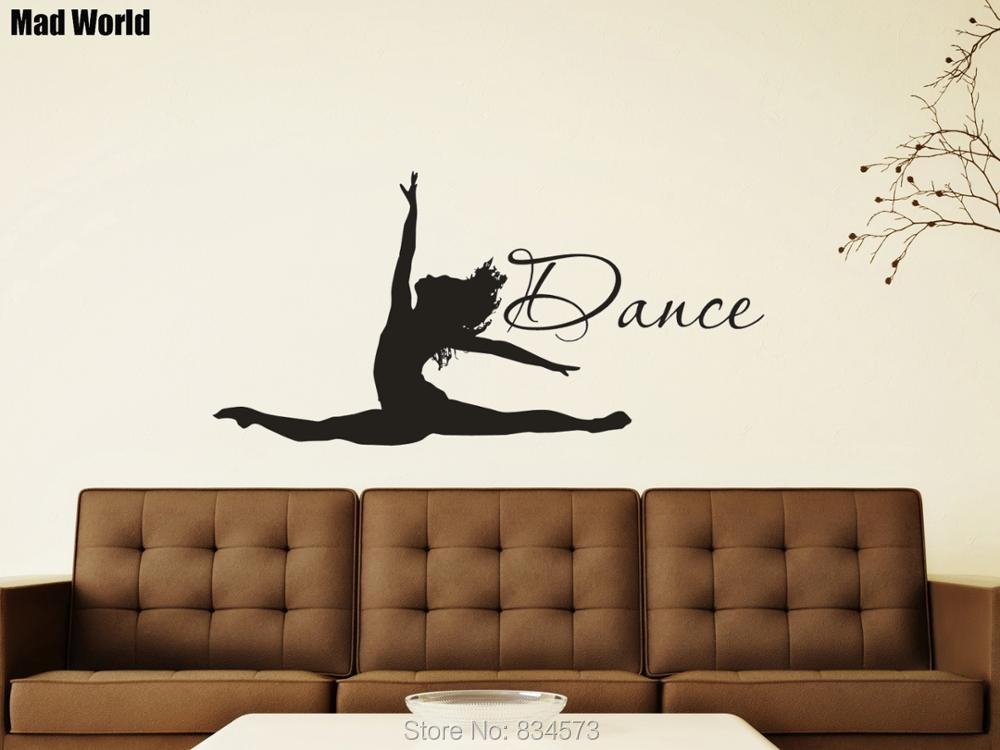Wall Stickers Home & Garden Alert Stizzy Wall Decal Ballerina Girl Dancer Vinyl Wall Sticker Ballet Dance Studio Window Poster Logo Design Girls Bedroom Decorb939