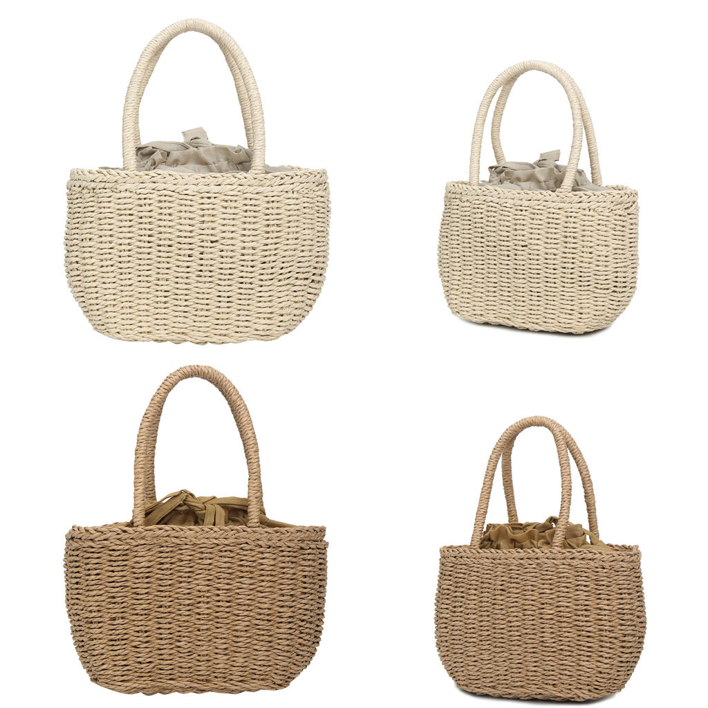 Handbag Casual Straw-Woven-Bag Elegant Design Fashion Women's Solid 16 Great-Present