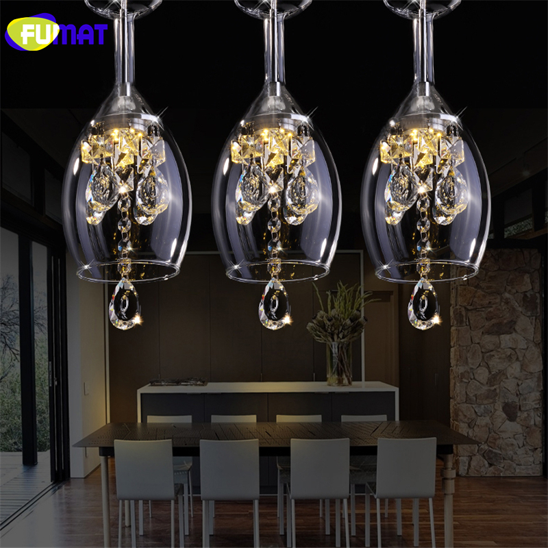 FUMAT Modern creative crystal ceiling lamps LED lamps living room dining room glass ceiling lamp led lustre light ceiling lights