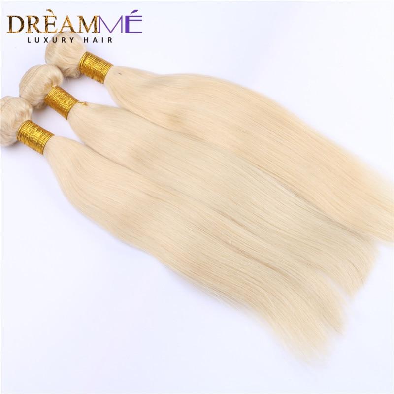 613 Blonde Color Hair 3 Bundles Pcs Brazilian Straight Human Hair Extensions 100 Remy Human