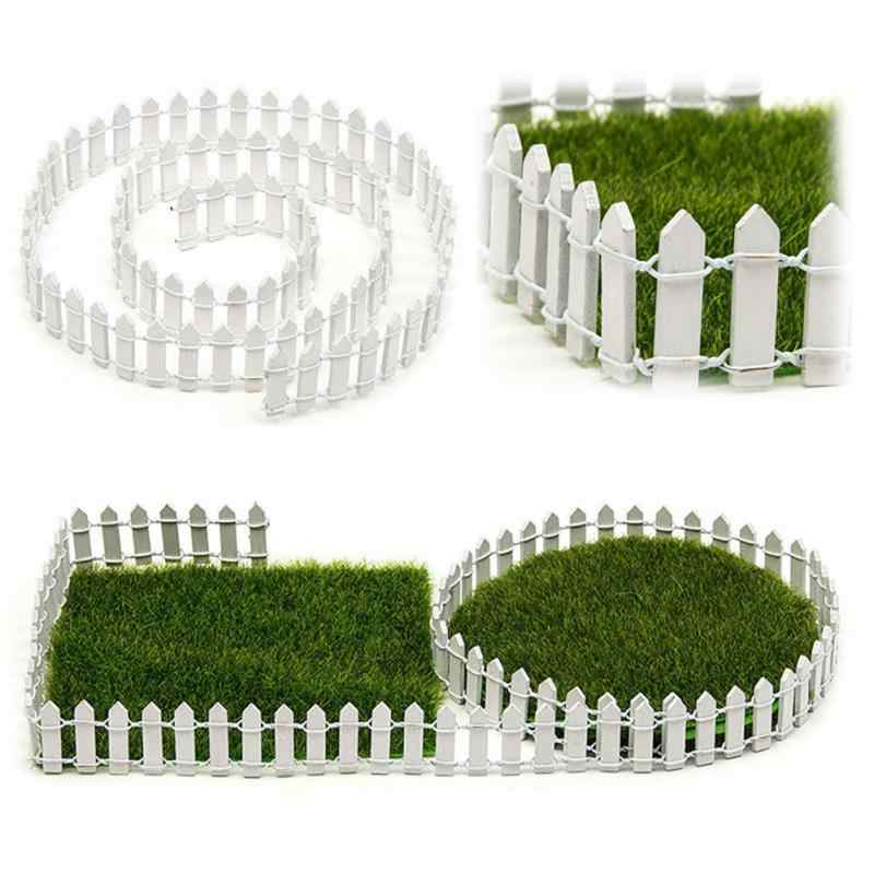 New 100*5cm DIY Mini Small Fence Barrier Wooden Craft Miniature Fairy Garden Terrarium Doll Branch Palings Showcase Decoration