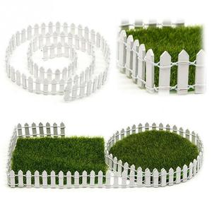 New 100*5cm DIY Mini Small Fence Barrier Wooden Craft Miniature Fairy Garden Terrarium Doll Branch Palings Showcase Decoration(China)