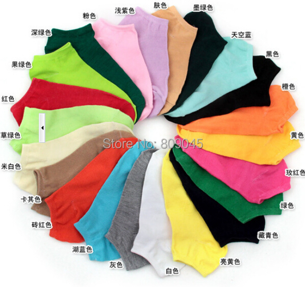 Summer Comfortable Cotton Bamboo Fiber Girl Women's Socks Ankle Low Female Invisible  Color Girl Boy Hosier 1pair=2pcs WS03