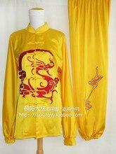 Customize Tai chi clothing Martial arts wushu outfit kungfu uniform dragon embroidered for men women girl boy children kids